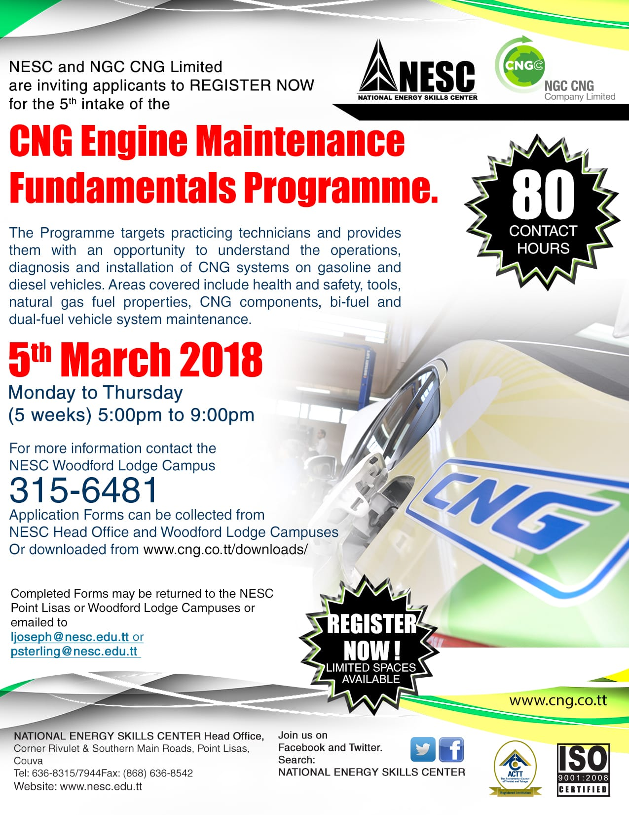 NESC Training Programme Available in CNG Engine Maintenance