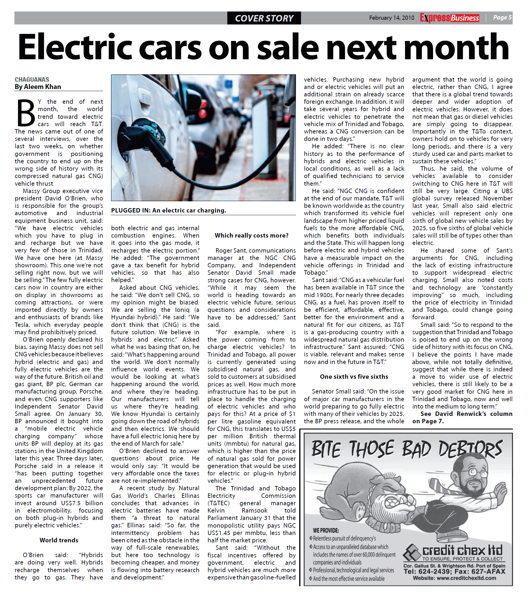 Electric cars on sale next month newspaper clipping